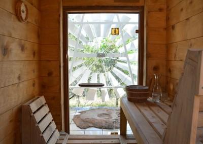 Trestrail Cottage sauna.